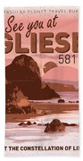 Exoplanet 01 Travel Poster Gliese 581 Beach Towel by Chungkong Art