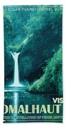 Exoplanet 04 Travel Poster Fomalhaut B Beach Towel by Chungkong Art