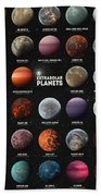 Exoplanets Beach Towel