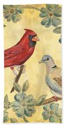 Exotic Bird Floral And Vine 2 Beach Towel