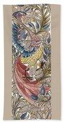 Exotic Bird Beach Towel by William Morris