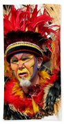 Exotic Painted Face Beach Towel