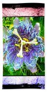 Exotic Strange Flower Beach Towel
