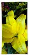Exotic Yellow Beach Towel