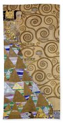 Expectation Preparatory Cartoon For The Stoclet Frieze Beach Towel