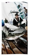 Expedition Great White Crew Conducts Beach Towel