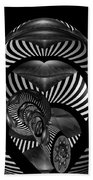 Exploration Into The Unknown Bw Beach Towel