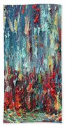 Expressionist Cat Oil Painting.1 Beach Towel