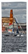 Extreme 40 Team Wales Landrover Beach Towel