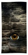 Eye In Brick Wall Beach Towel