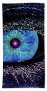 Eye In The Sky Beach Towel by Joann Vitali