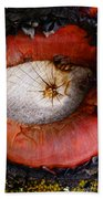 Eye Of Madrone Beach Towel