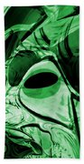 Eye Of The Crystal Dragon Beach Towel