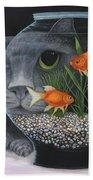 Eye To Eye Beach Towel by Karen Zuk Rosenblatt