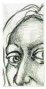 Eyes - The Sketchbook Series Beach Towel by Michelle Calkins