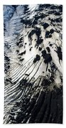 Eyjafjallajokull Glacier And Ashes Beach Towel