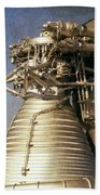 F-1 Rocket Engine Beach Towel