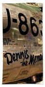 F-86d Sabre Dennis The Menace Beach Towel