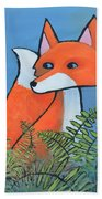 F Is For Fox Beach Towel