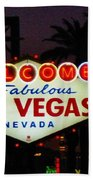 Fabulous Las Vegas Beach Towel