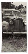 Fabulous Vintage Car Black And White Beach Towel