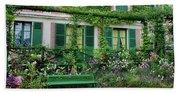 Facade Of Claude Monets House, Giverny Beach Towel