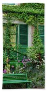 Facade Of Claude Monets House, Giverny Beach Towel