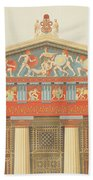 Facade Of The Temple Of Jupiter Beach Towel