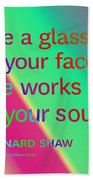 Face And Soul Definitions Beach Towel