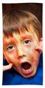 Face Paint Beach Towel by Tom Gowanlock