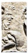 Faces Of Pompeii Beach Towel