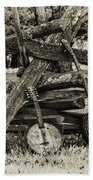 Faded Country Time Banjos Beach Towel