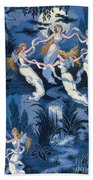 Fairies In The Moonlight French Textile Beach Towel
