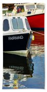 Fairmaid At Mousehole Harbour Beach Towel