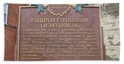 Fairport Harbor Lighthouse Beach Towel