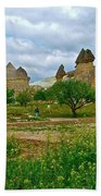 Fairy Chimneys In Cappadocia-turkey Beach Towel
