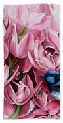 Fairy Wrens And Orchids Beach Towel
