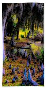 Fairyland Of Gnomes Beach Towel