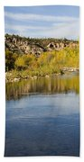 Fall Along River Sierra Ancha Beach Towel