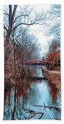 Fall Along The Delaware Canal Beach Towel