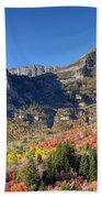 Fall At Mt. Timpanogos From Sundance - Utah  Beach Towel