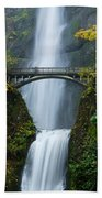 Fall At Multnomah Falls Beach Towel