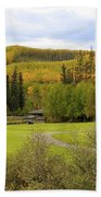 Fall At The Course Beach Towel