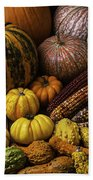 Fall Autumn Abundance Beach Towel