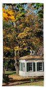 Fall Barn Beach Towel