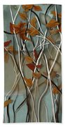 Fall Branches With Deer Beach Towel
