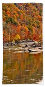 Fall Brilliance At New River Beach Towel