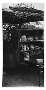 Fall Cattle Round-up Tohono O'odham Reservation Cook's Work Area Hanging Meat For Curing Near Sells  Beach Towel