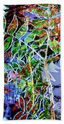 Fall Color Collage Beach Towel