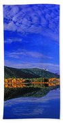 Fall Color Oxbow Bend Grand Tetons National Park Wyoming Beach Towel